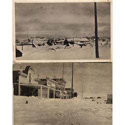 CA - Bodie,Mono County - 1921-22 - Bodie in Snow RPCs - Mueller Collection