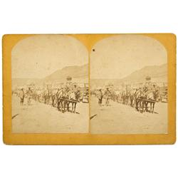 CA - Bodie,Mono County - 1879 - Bodie Main Street Scene Stereoview