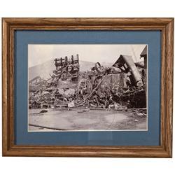 CA - Bodie,Mono County - c1898 - Bodie Mine Photograph, Framed