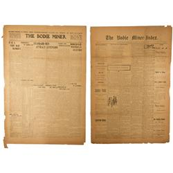 CA - Bodie,Mono County - 1905-1909 - Bodie Miner Newspapers
