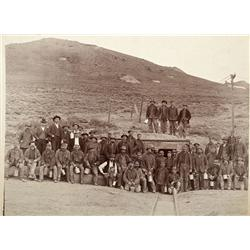 CA - Bodie,Mono County - c1890 - Bodie Miners Photograph