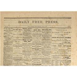 CA - Bodie,Mono County - June 17, 1881 - Bodie Newspaper - Gil Schmidtmann Collection
