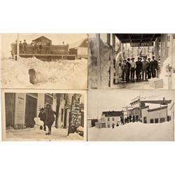 CA - Bodie,Mono County - 1911-1912 - Bodie's Big Snows RPCs - Mueller Collection