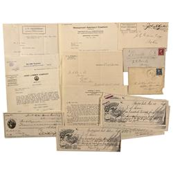 CA - Bodie,Mono County - 1895-1931 - Mono County Collection – Covers, Billheads, and Miscellaneous R
