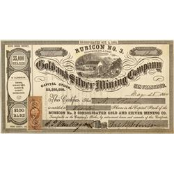 CA - Inyo County,1864 - Gold and Silver Mining Company Stock Certificate - Clint Maish Collection