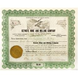 CA - Inyo County,1905 - Keynote Mine and Milling Co. Stock Certificate