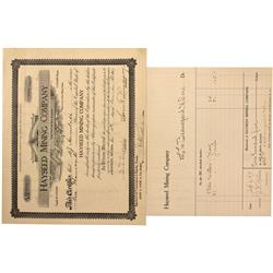 CA - Lee County,1907 - Hayseed Mining Company Documents - Clint Maish Collection