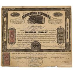 CA - Mariposa,June 12, 1869 - Mariposa Company Stock Certificate