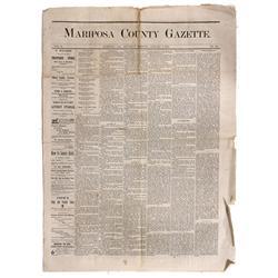 CA - Mariposa,1876-1877 - Mariposa County Gazette Newspapers