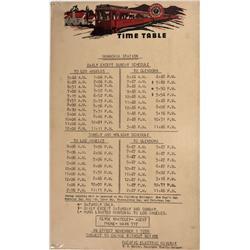 CA - Monrovia,Los Angeles County - November 1, 1939 - Pacific Electric Railway Time Table Broadside