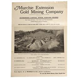 CA - Nevada City,Nevada County - c1907 - Murchie Extension Gold Mining Company Prospectus