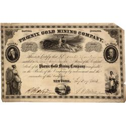 CA - Nevada City,Nevada County - September 19, 1853 - Phoenix Gold Mining Company, Stock