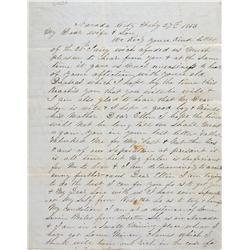 CA - Nevada County,1853 - Power of Attorney Letter