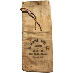 CA - Oakland,Alameda County - c1908 - Allgewahr Bros. Co. Assayer and Ore Bag, Boxed