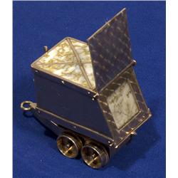CA - Placerville,El Dorado County  - Gold and Gold Quartz Miniature Mining Cart