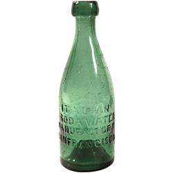 CA - San Francisco,c1852-60 - Classic Gold Rush Soda bottle with pontil