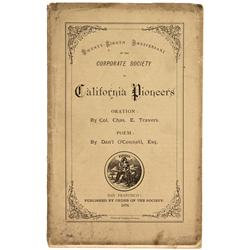 CA - San Francisco,1878 - Twenty-Eighth Anniversary Program for the California Pioneers
