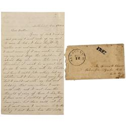 "CA - Yankee Hill,Butte County - 1859 - ""Free"" Cover and Mining Letter"
