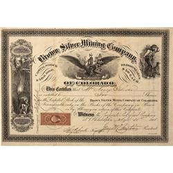 CO - 1868 - Brown Silver Mining Company
