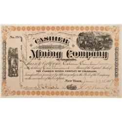 CO - 1887 - Cashier Mining Company of Colorado Stock Certificate - Fenske Collection