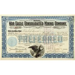 CO - 1900 - War Eagle Consolidated Mining Company Stock - Fenske Collection