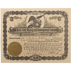 CO - American City,Gilpin County - 1904 - Boston-Occidental Mining Company Stock Certificate