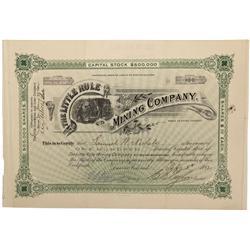 CO - Aspen,Pitkin County - 1892 - Little Rule Mining Company Stock Certificate - Fenske Collection