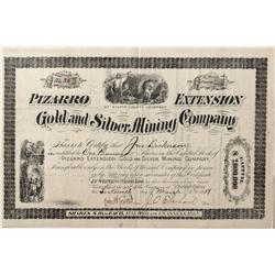 CO - Bald Mountain,Gilpin County - 1881 - Pizarro Extension Gold and Silver Mining Company Stock Cer