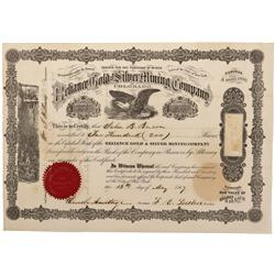 CO - Black Hawk,Gilpin County - 1867 - Reliance Gold and Silver Mining Company Stock Certificate - F