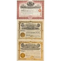 CO - Boulder,Boulder County - 1905-1909 - Chaffee County Stock Certificates