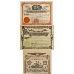 CO - Boulder,Boulder County - 1902-1914 - Ward Mining District Stocks and Bond