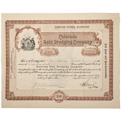 CO - Breckenridge,Summit County - 1906 - Colorado Gold Dredging Company Stock Certificate - Fenske C