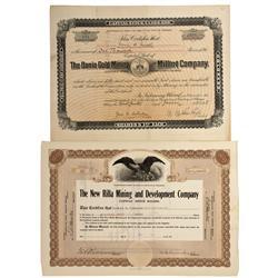 CO - Breckenridge,Summit County - 1898-1921 - Summit County Stock Certificates - Fenske Collection