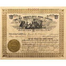 CO - Cripple Creek,Teller County - 1897 - Ben Trovato Gold Mining Company Stock Certificate - Fenske