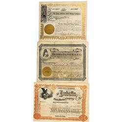 CO - Cripple Creek,Teller County - 1897-1903 - Cripple Creek Gold Mining Stock Certificate Group