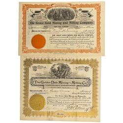 CO - Cripple Creek,Teller County - 1899, 1902 - Cripple Creek Mining and Milling Stock Certificates