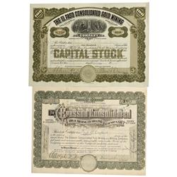 CO - Cripple Creek,Teller County - 1913, 1917 - Cripple Creek Mining District Stock Certificate Grou