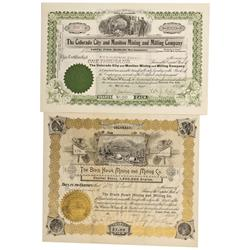 CO - Cripple Creek,Teller County - 1897, 1905 - Teller County Stock Certificates