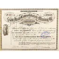 CO - Del Norte,Rio Grande County - 1875 - The San Juan Consolidated Mining Co.
