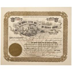 CO - Denver,1901 - Gardner Electric Drill and Machinery Company Stock Certificate - Fenske Collectio