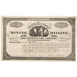 CO - Denver,1881 - Michigan Mining, Milling and Prospecting Company Stock Certificate - Fenske Colle