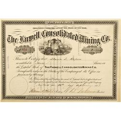 CO - Farwell,Pitkin County - 1881 - Farwell Consolidated Mining Co. Stock