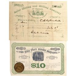 CO - Galena,Fremont County - 1879, 1884 - Fremont County Stock Certificates - Fenske Collection