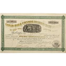 CO - Gold Hill,Boulder County - 1880 - Gold Hill Consolidated Mining Co. Stock Certificate