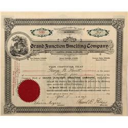 CO - Grand Junction,Mesa County - 1903 - Grand Junction Smelting Company Stock Certificate - Fenske
