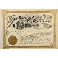 CO - Hooper,Alamosa County - 25 Feb 1901 - THE BLANCA MUTUAL MINING AND MILLING COMPANY STOCK CERTIF
