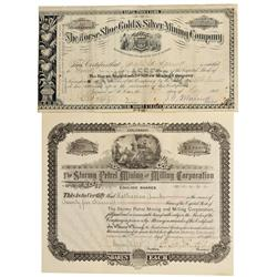 CO - Horse Shoe,Park County - 1882, 1903 - Horse Shoe Mining District Stock Certificate Group