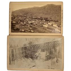 CO - Idaho Springs,Clear Creek County - c1885 - Colorado Trestle and Town Photographs - Mueller Coll