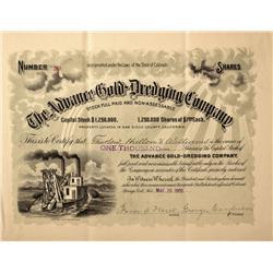 CO - Julian,1900 - Advance Gold-Dredging Stock Certificate