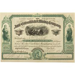 CO - Lake County,1883 - Annie Consolidated Mining Company Stock Certificate - Fenske Collection